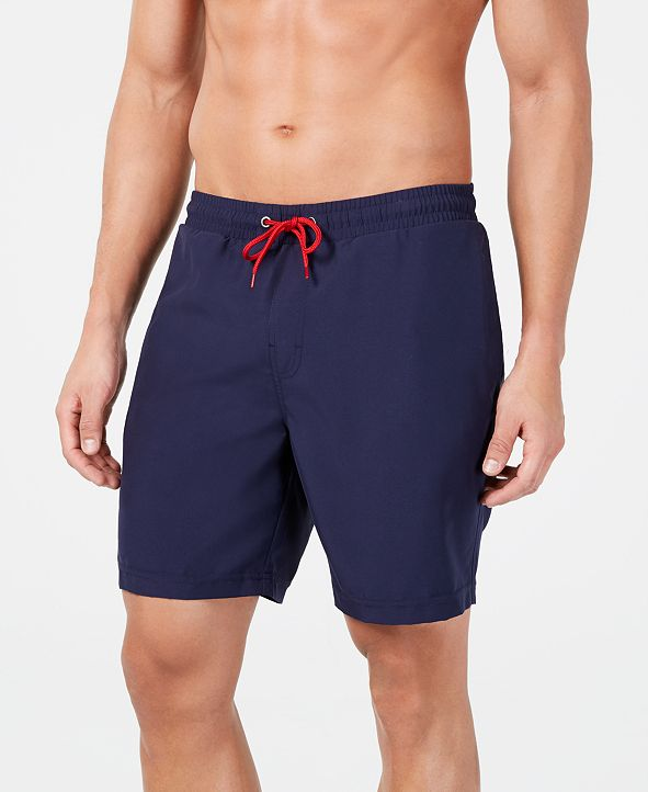 """Club Room Men's Quick-Dry Performance Solid 7"""" Swim Trunks, Created for Macy's"""