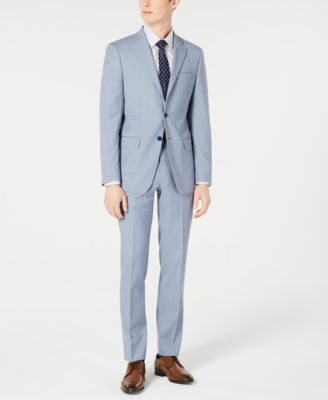 Men's X-Fit Slim-Fit Light Blue Sharkskin Suit Pants