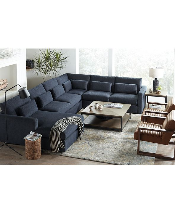 Hotel Collection Canillo Fabric Sectional Sofa Collection, Created for Macy's