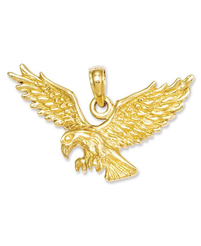 Macy's - 14k Gold Charm, Solid Polished Eagle Charm