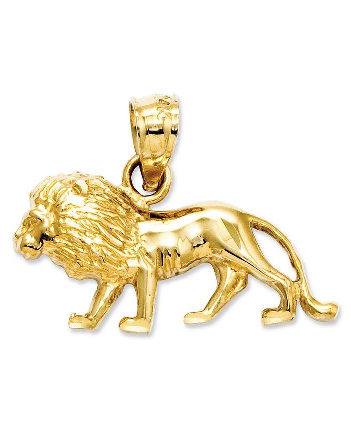 Macy's - 14k Gold Charm, Lion Charm