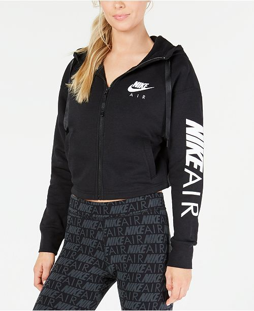 Nike Women's Air Fleece Zip Cropped Hoodie & Reviews - Women ...