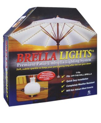 BRELLA LIGHTS - Patio Umbrella Lighting System With Power Pod, 8-Rib Model