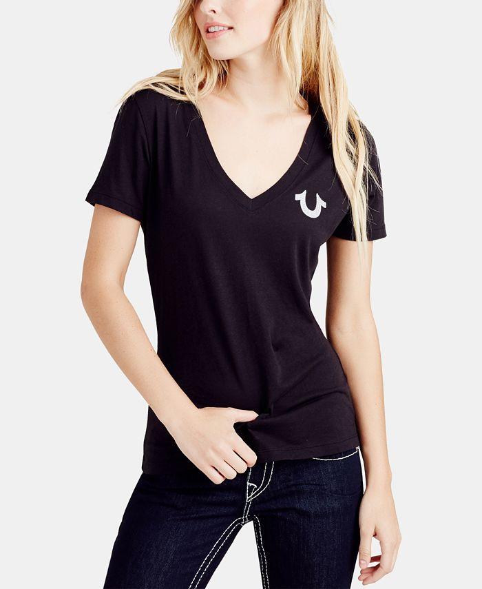 True Religion - V-Neck Classic Logo T-Shirt