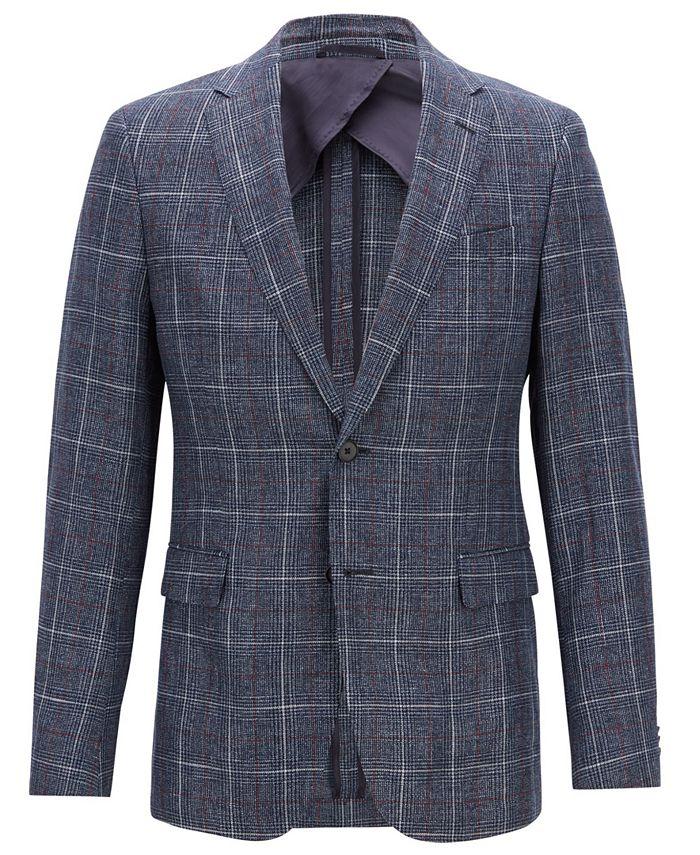 Hugo Boss - Men's Slim Fit Checked Jacket