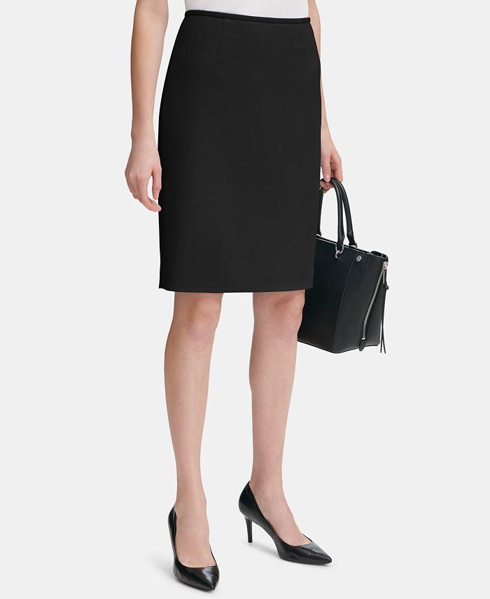 Calvin Klein - Crepe Pencil Skirt