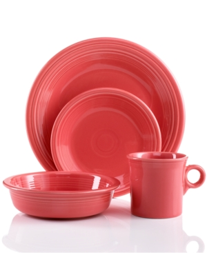 Fiesta Dinnerware, Flamingo 4 Piece Place Setting