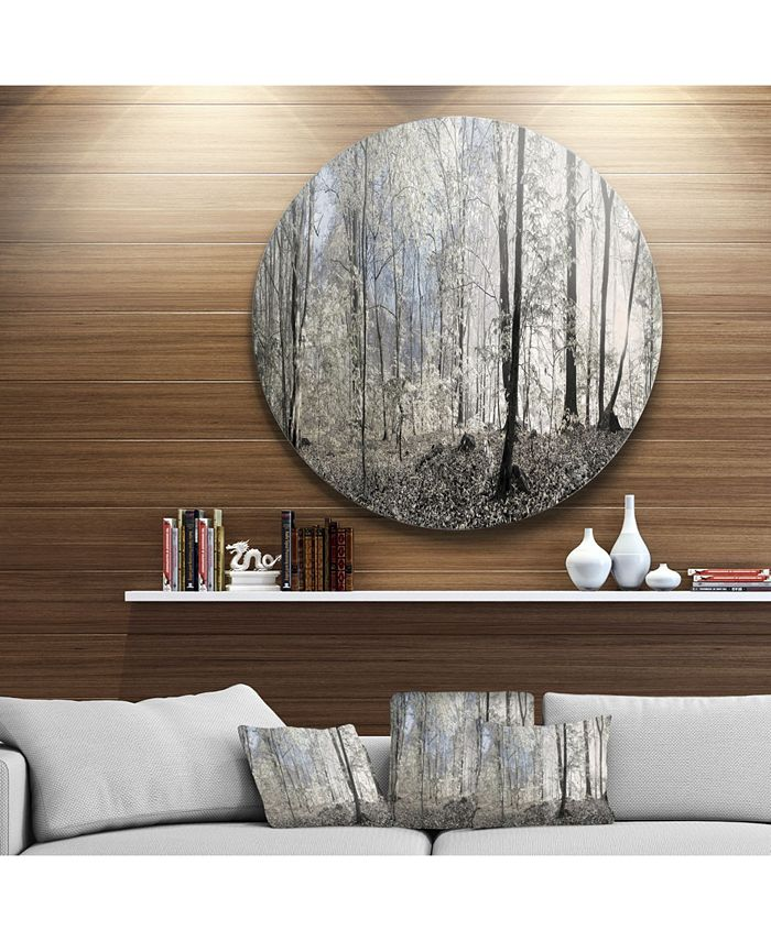 Design Art Designart Dark Morning In Forest Panorama Landscape Round Circle Metal Wall Art 38 X 38 Reviews Wall Decor Home Decor Macy S