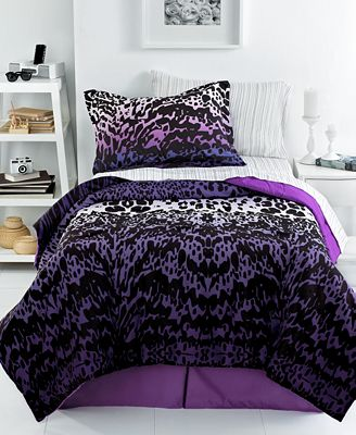 Ombre Animal 4 Piece Comforter Sets Bed In A Bag Bed