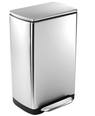 simplehuman Rectangular Trash Can, 38L Wide Step Can