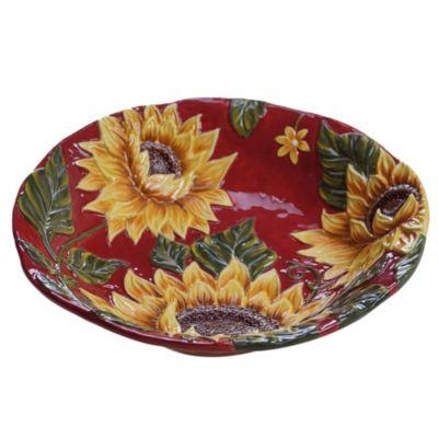 Sunset Sunflower Serving Bowl