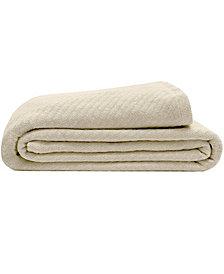 Elite Home Textured Organic Cotton Twin Blanket
