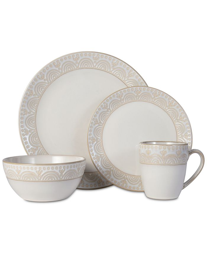 Pfaltzgraff - Amelia Cream 16-pc. Dinnerware Set, Service for 4