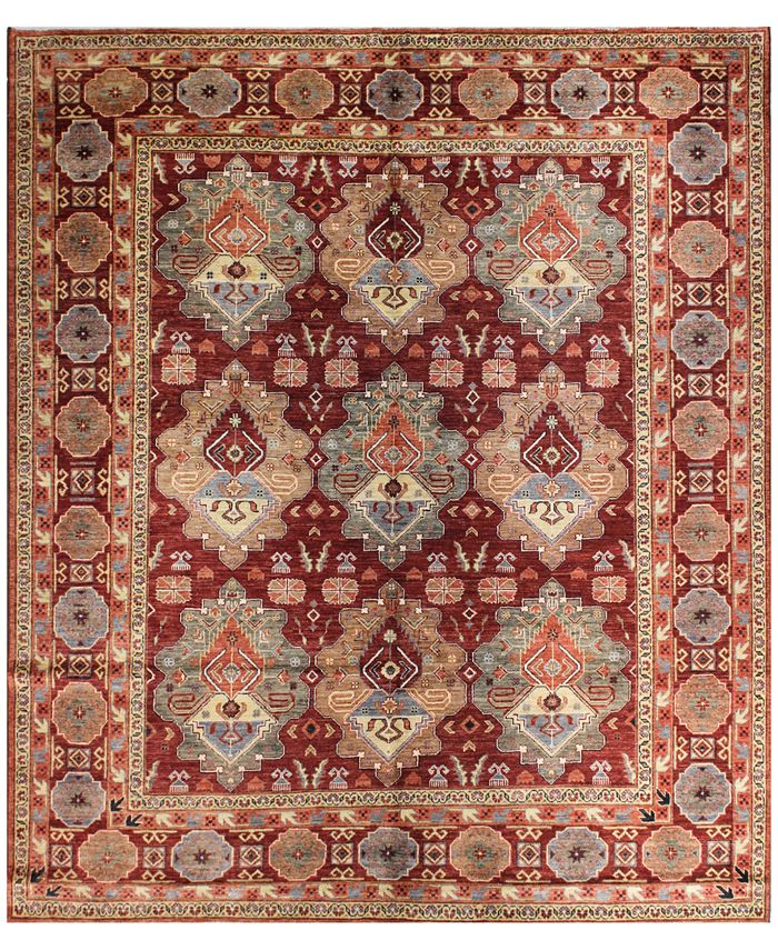 "BB Rugs - Pak Tribal 594707 Rust 8'1"" x 9'4"" Area Rug"