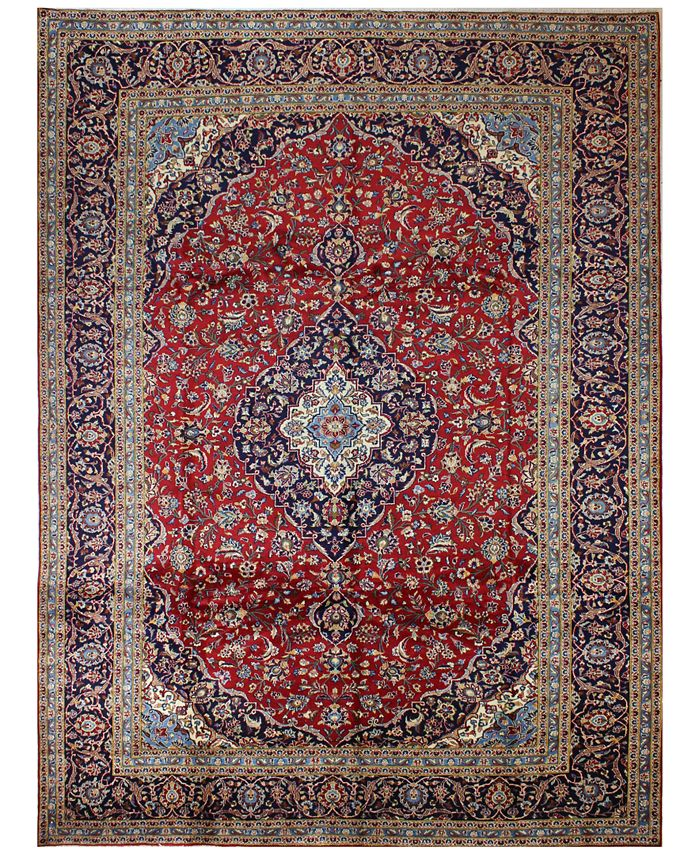 "BB Rugs - Kashan 617046 Red 9'10"" x 13'3"" Area Rug"