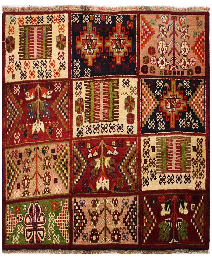 "BB Rugs - Kashkayi 627954 Multicolor 3'11"" x 4'5"" Area Rug"