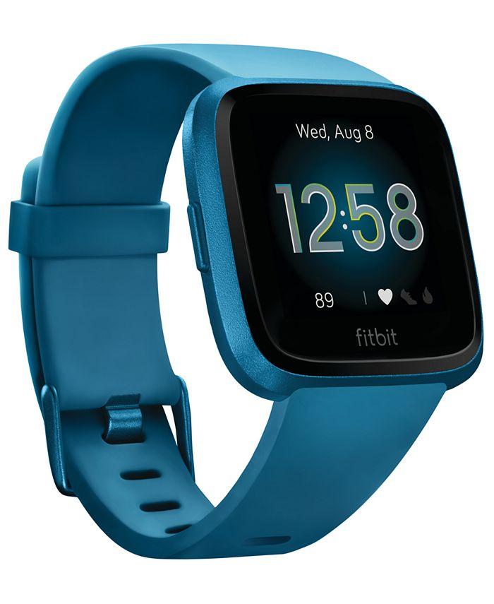 Fitbit - Unisex Versa Lite Blue Silicone Strap Smart Watch 39mm