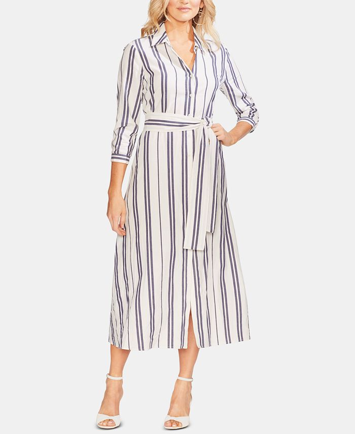 Vince Camuto - Striped Shirtdress
