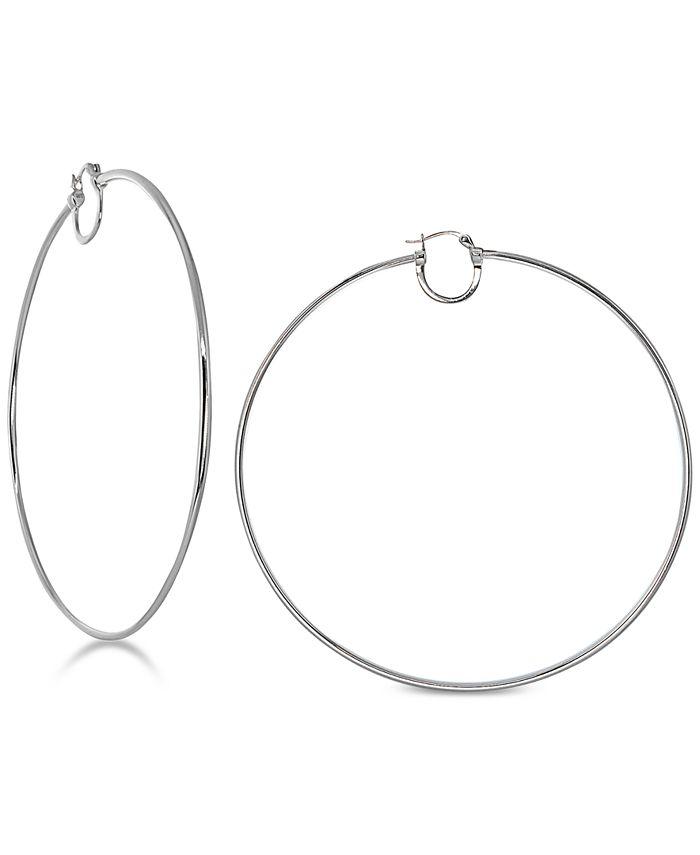 Giani Bernini - Thin Wire Double Hoop Earrings 18k Gold-Plated Sterling Silver