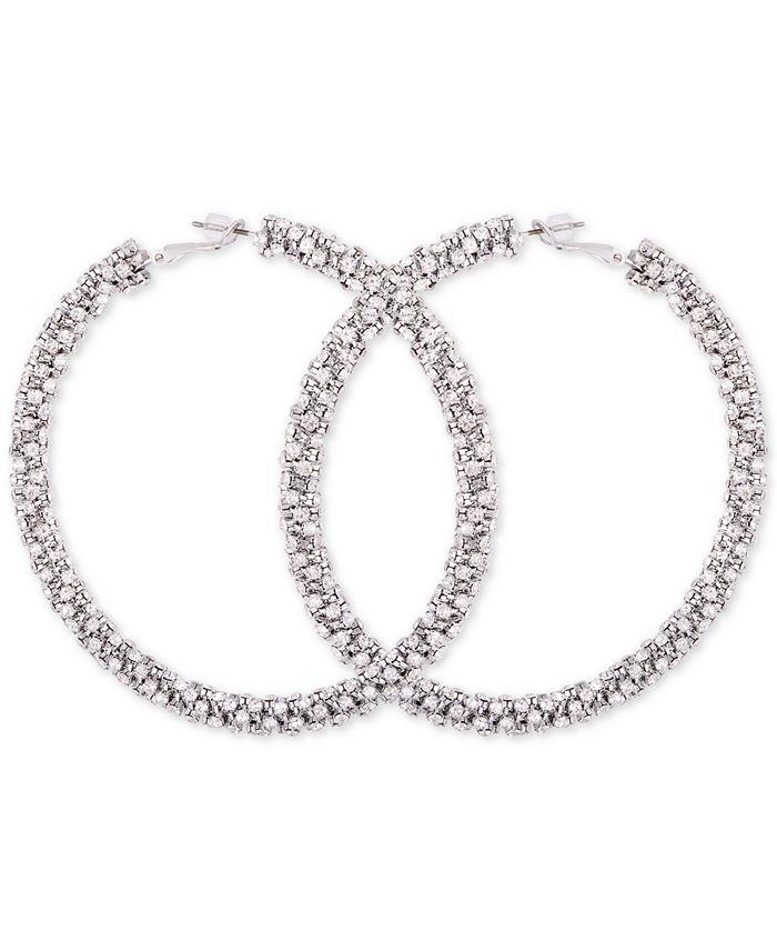 GUESS - Crystal Pavé Hoop Earrings