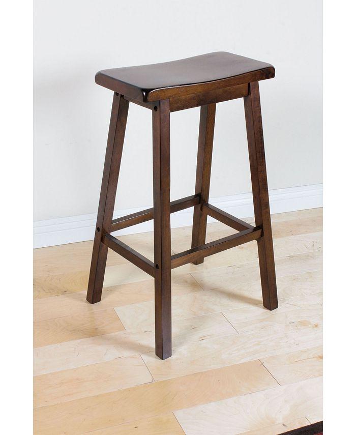 Acme Furniture - ACME Gaucho Bar Stool Set of 2, Walnut