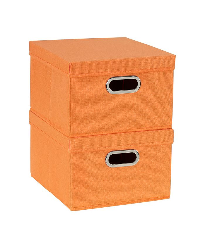 Household Essentials - 2-Pc. Tangarine Storage Box Set