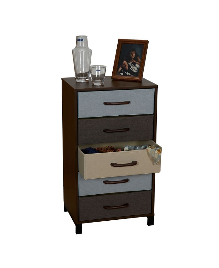 Household Essentials - 5-Drawer Modular Storage Chest Stand