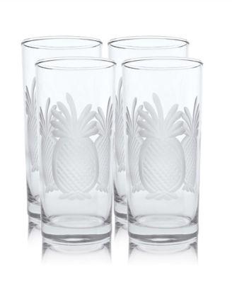 Pineapple Cooler Highball 15Oz - Set Of 4 Glasses