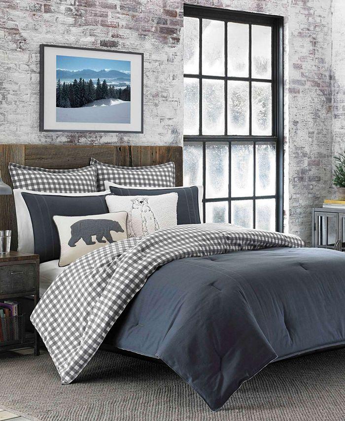 Eddie Bauer - Kingston Charcoal Comforter Set, King