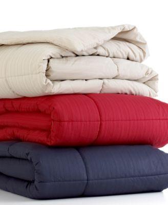 Closeout home design printed stripe down alternative - Home design down alternative comforter ...