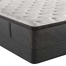 """Beautyrest Silver BRS900-C-TSS 16.5"""" Plush Pillow Top Mattress Set - King, Created for Macy's"""