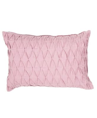 """Sonali Pink Solid Poly Throw Pillow 14"""" x 20"""""""