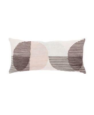Nikki Chu By Salamanca Pink/Ivory Geometric Down Throw Pillow 10