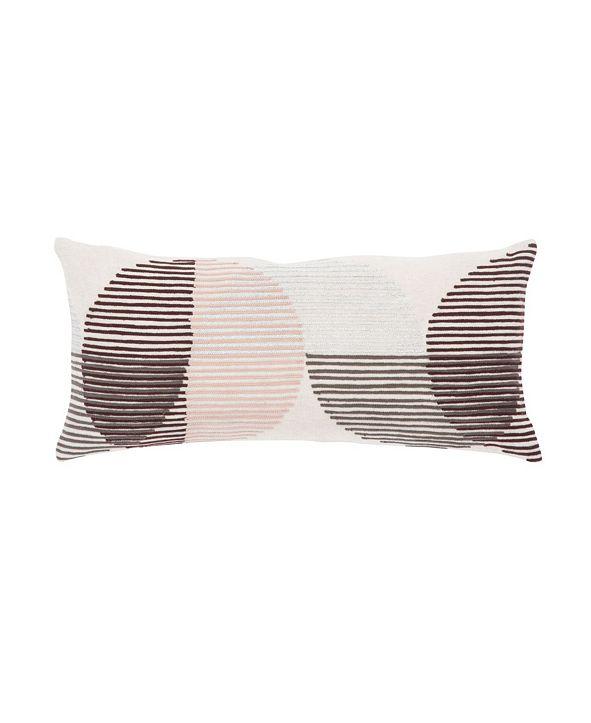 "Jaipur Living Nikki Chu By Salamanca Pink/Ivory Geometric Down Throw Pillow 10"" x 21"""