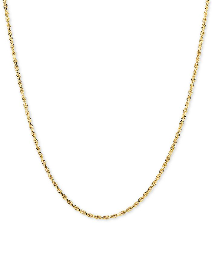 "Macy's - Glitter Rope 24"" Chain Necklace in 14k Gold"