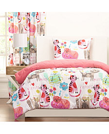 Crayola Purrty Cat 5 Piece Twin Luxury Duvet Set