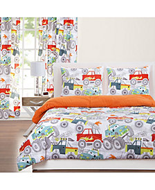 Crayola Four Wheelin' 6 Piece Queen Luxury Duvet Set