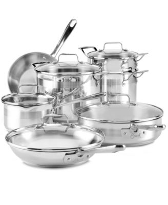 Emeril by All-Clad Chef's Stainless Steel Cookware, 12 Piece Set