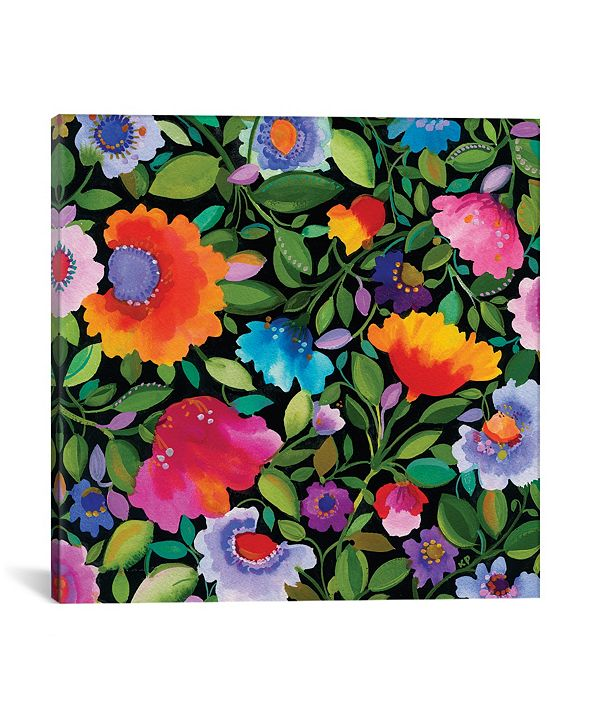 """iCanvas """"India Garden I"""" By Kim Parker Gallery-Wrapped Canvas Print - 26"""" x 26"""" x 0.75"""""""