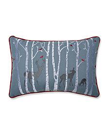 Pillow Perfect Christmas Woodland Deer Lumbar Pillow