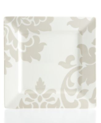 Martha Stewart Collection Lisbon Gray Square Salad Plate