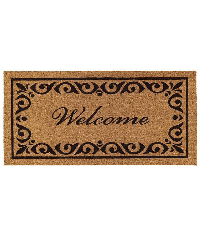 """Home & More - Breaux 30"""" x 48"""" Welcome Coir/Vinyl Doormat"""