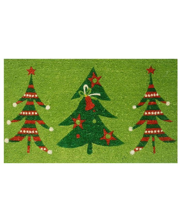 "Home & More - Christmas Trio 17"" x 29"" Coir/Vinyl Doormat"