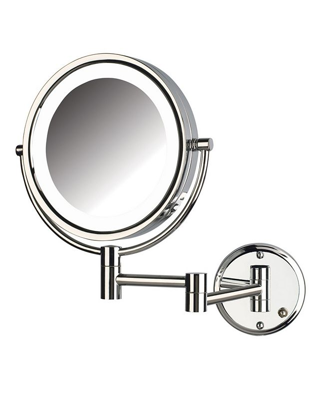 """Jerdon The HL88CLD 8.5"""" LED Lighted Wall Mount Direct Wire Makeup Mirror"""