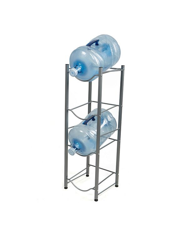 Mind Reader 4 Tier Stainless Steel Heavy Duty Water Cooler Jug Rack