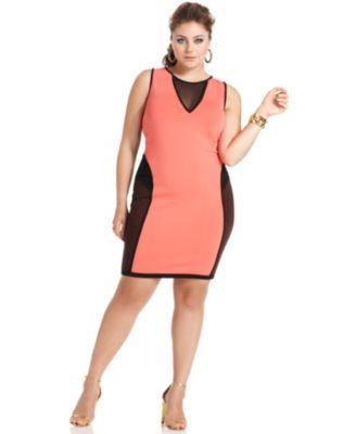 Bodycon bandage dress plus size