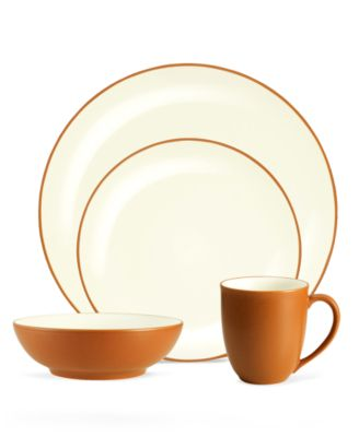 Noritake Dinnerware, Colorwave Terra Cotta Coupe 4 Piece Place Setting
