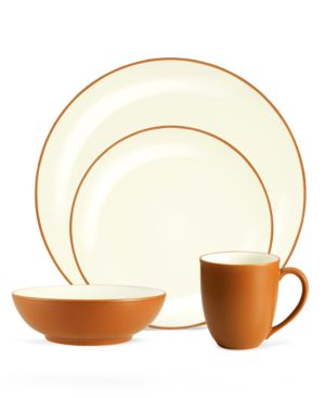 Noritake Dinnerware, Colorwave Terra Cotta Coupe 4 Piece Place Setting