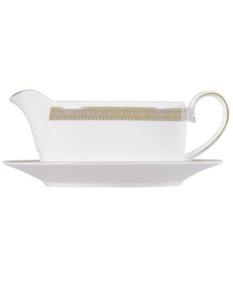 Vera Wang Wedgwood Dinnerware, Lace Gold Gravy Boat Stand