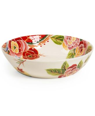 Vida by Espana Rose Print Pasta Bowl